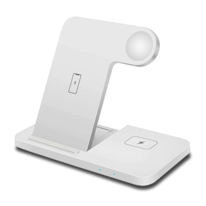 Station de charge 3 en 1 pour Apple iPhone / iWatch / AirPods - Station de charge sans fil 15W Pad blanc