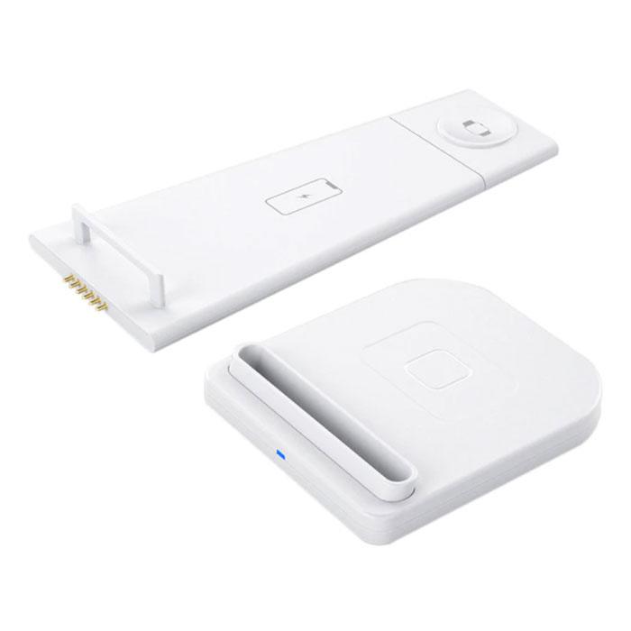 Station de charge pliable 3 en 1 pour Apple iPhone / iWatch / AirPods - Station de charge sans fil 10W Pad blanc
