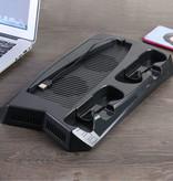 Stuff Certified® Multifunctionele Dual Ventilator Cooling Stand Mount en Oplaadstation voor PlayStation 5 - PS5 -  Koeling Standaard Cooler Zwart