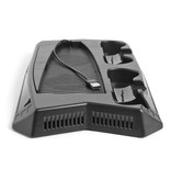 Stuff Certified® Multifunctional Dual Fan Cooling Stand Mount and Charging Station for PlayStation 5 - PS5 - Cooling Standard Cooler Black