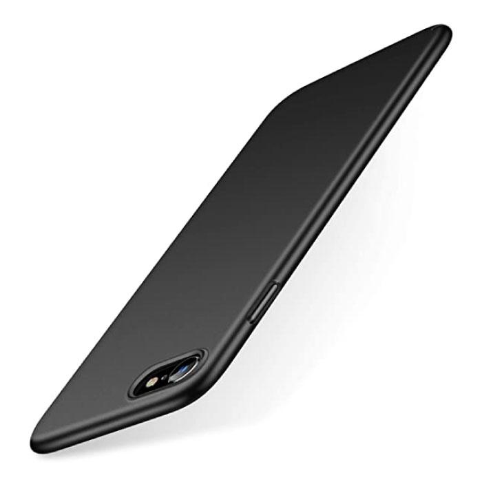 iPhone XR Ultra Dun Hoesje - Hard Matte Case Cover Zwart