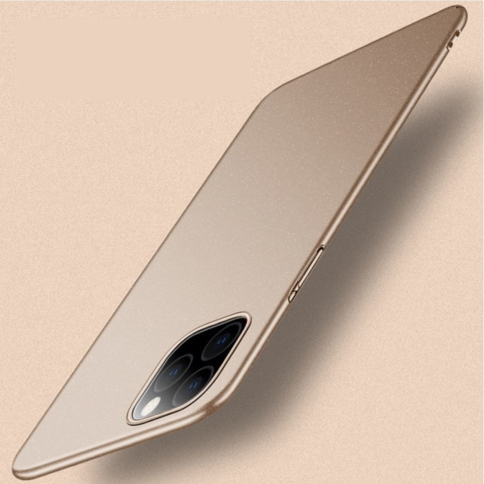 iPhone 12 Pro Ultra Thin Case - Hard Matte Case Cover Gold