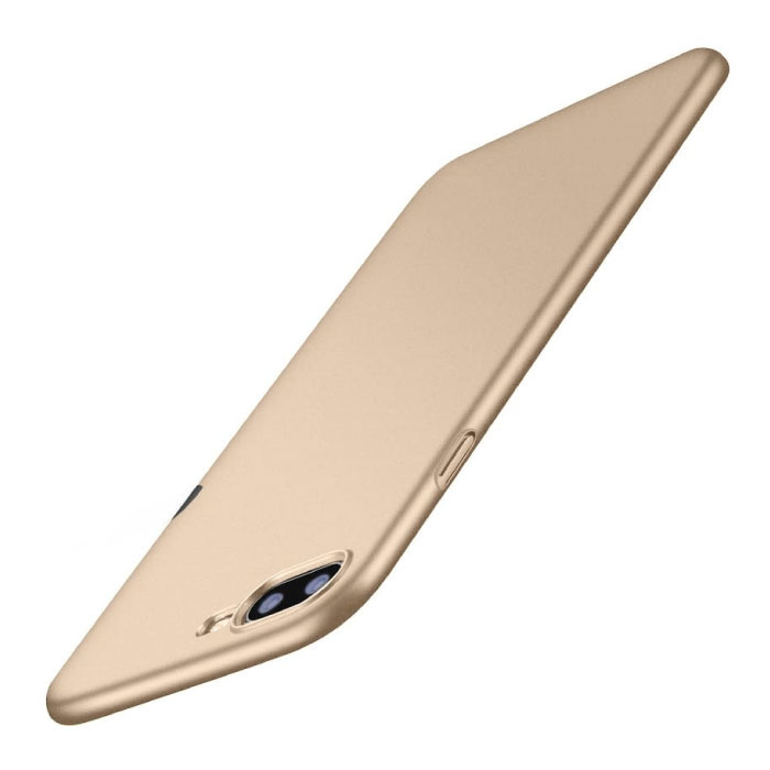 iPhone XR Ultra Dun Hoesje - Hard Matte Case Cover Goud