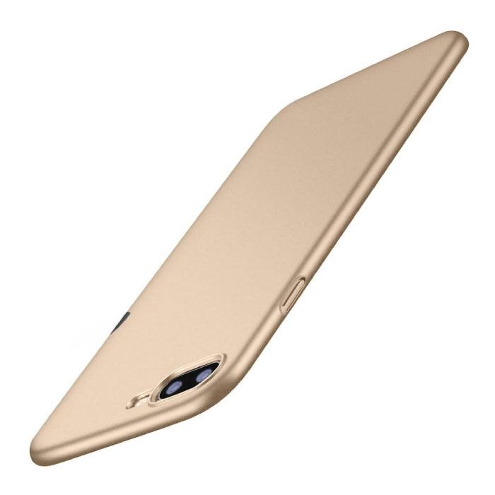 iPhone 8 Plus Ultra Dun Hoesje - Hard Matte Case Cover Goud