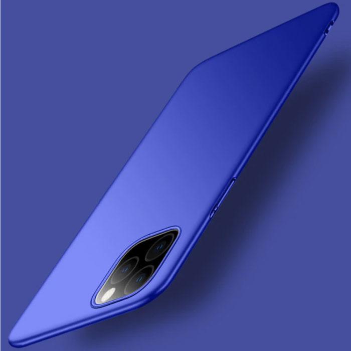 iPhone 11 Pro Max Ultra Dun Hoesje - Hard Matte Case Cover Blauw