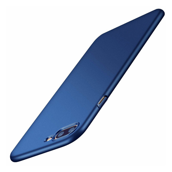 iPhone XR Ultra Dun Hoesje - Hard Matte Case Cover Blauw