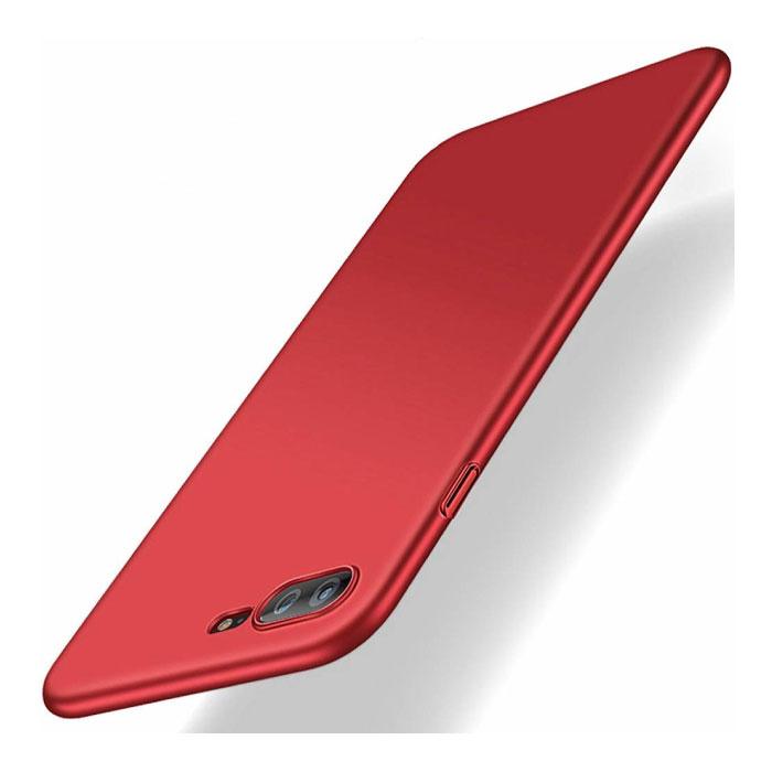 iPhone 8 Plus Ultra Dun Hoesje - Hard Matte Case Cover Rood