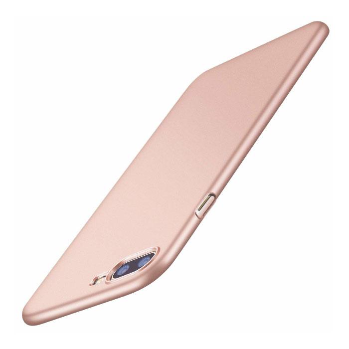 iPhone 8 Plus Ultra Dun Hoesje - Hard Matte Case Cover Roze