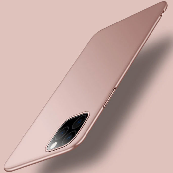 iPhone 12 Pro Max Ultra Dun Hoesje - Hard Matte Case Cover Roze