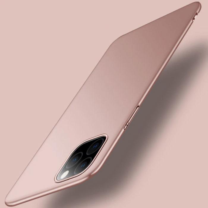 iPhone 12 Mini Ultra Dun Hoesje - Hard Matte Case Cover Roze