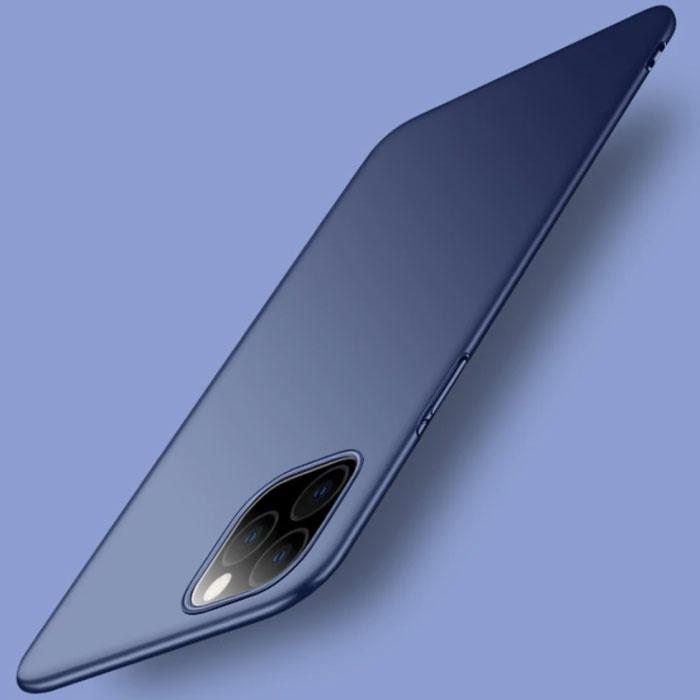 iPhone 11 Ultra Dun Hoesje - Hard Matte Case Cover Donkerblauw