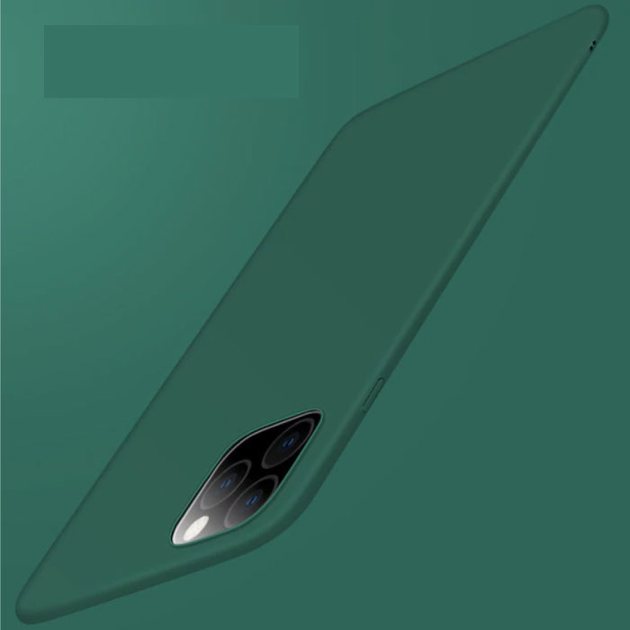 iPhone 11 Pro Max Ultra Dun Hoesje - Hard Matte Case Cover Groen