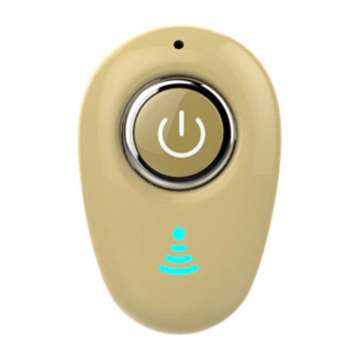 Écouteur Bluetooth sans fil S650 avec bouton multifonction - TWS Ear Wireless Bud Earphone Earbud Earphone Gold
