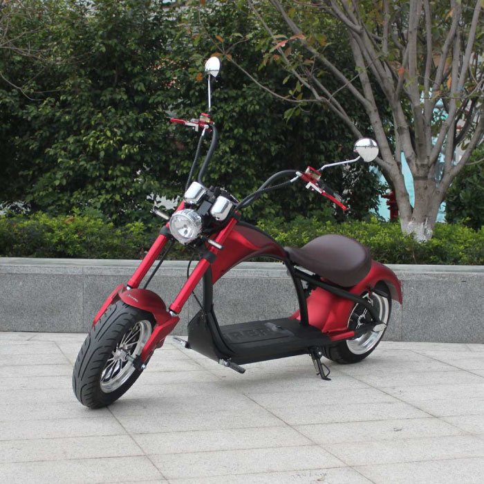 "City Coco Chopper - Smart Elektro E Roller Harley - 21 ""- 2000W - 20Ah - Rot"
