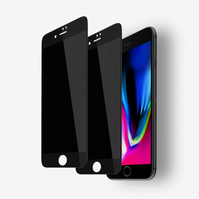 2er-Pack iPhone 6 Privacy Displayschutzfolie Volle Abdeckung - Gehärtete Glasfolie Gehärtete Glasgläser