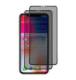 Stuff Certified® 2er-Pack iPhone XS Privacy Displayschutzfolie Volle Abdeckung - Gehärtete Glasfolie Gehärtete Glasgläser