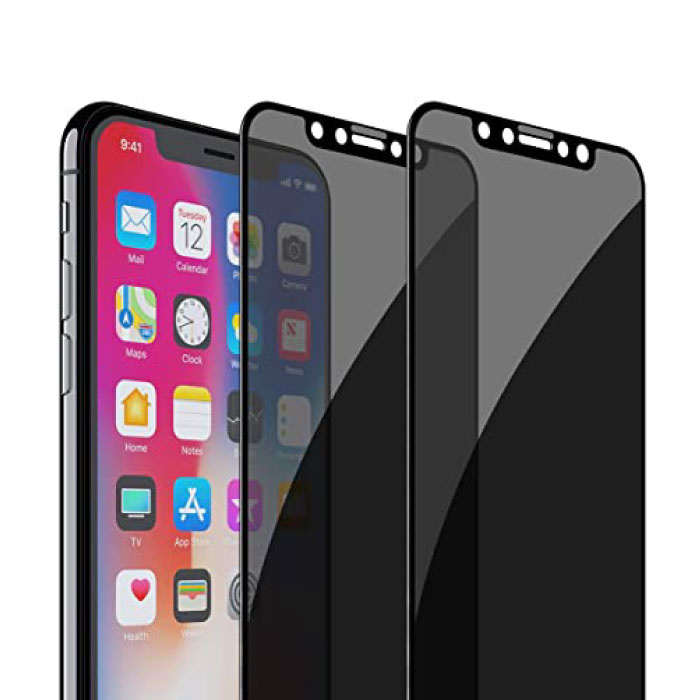 Stuff Certified® 2-Pack iPhone XS Privacy Screen Protector Full Cover - Tempered Glass Film Gehard Glas Glazen
