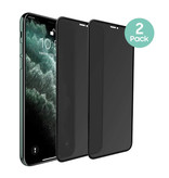 Stuff Certified® 2-Pack iPhone XS Max Privacy Screen Protector Full Cover - Tempered Glass Film Gehard Glas Glazen