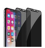 Stuff Certified® 2er-Pack iPhone XS Max Privacy Displayschutzfolie Volle Abdeckung - Gehärtete Glasfolie Gehärtete Glasgläser