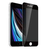 Stuff Certified® 2er-Pack iPhone SE (2020) Datenschutz-Displayschutzfolie Vollständige Abdeckung - Hartglasfolie aus gehärtetem Glas