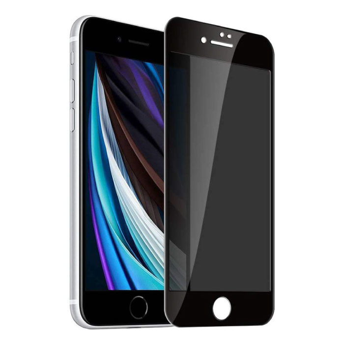 Stuff Certified® 2-Pack iPhone SE (2020) Privacy Screen Protector Full Cover - Tempered Glass Film Gehard Glas Glazen