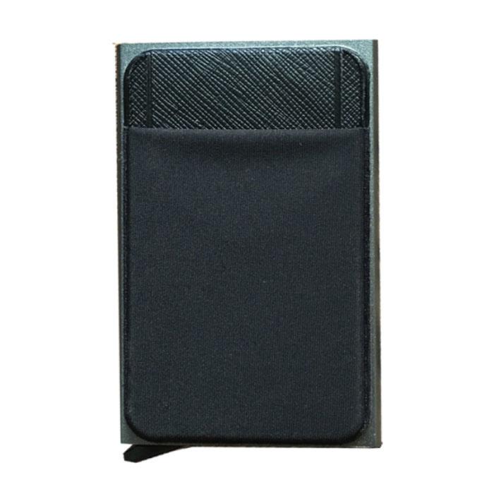 Portefeuille mince en aluminium - Portefeuille Portefeuille Porte-cartes Pince à billets pour carte de crédit - Or
