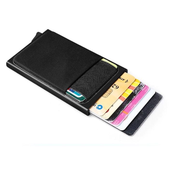 Stuff Certified® Aluminium Slim Wallet - Portemonnee Portefeuille Pasjeshouder Krediet Kaart Geld Clip - Paars