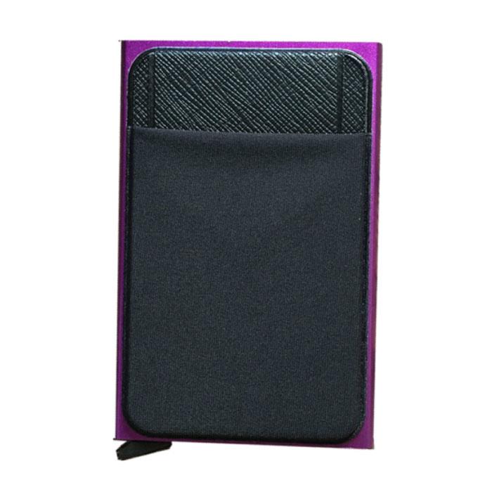 Aluminium Slim Wallet - Brieftasche Brieftasche Kartenhalter Kreditkarte Geldscheinklammer - Lila