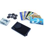 Stuff Certified® Aluminium Slim Wallet - Portemonnee Portefeuille Pasjeshouder Krediet Kaart Geld Clip - Zilver