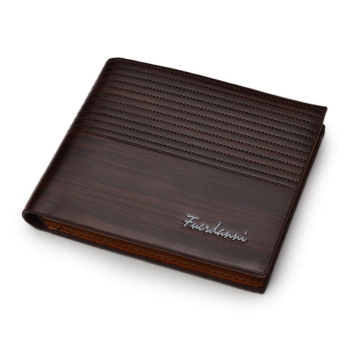 Billfold Wallet PU Leder - Slim Wallet Wallet Kartenhalter Kreditkarte - Braun