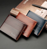 Fuerdanni Billfold Portemonnee PU Leer - Slim Wallet Portefeuille Pasjeshouder Krediet Kaart - Lichtbruin