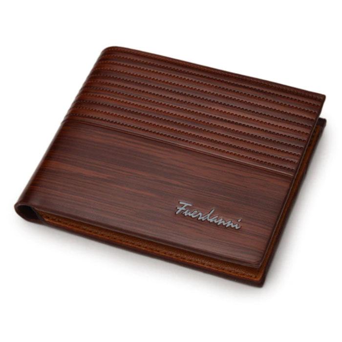 Billfold Wallet PU Leder - Slim Wallet Wallet Kartenhalter Kreditkarte - Hellbraun