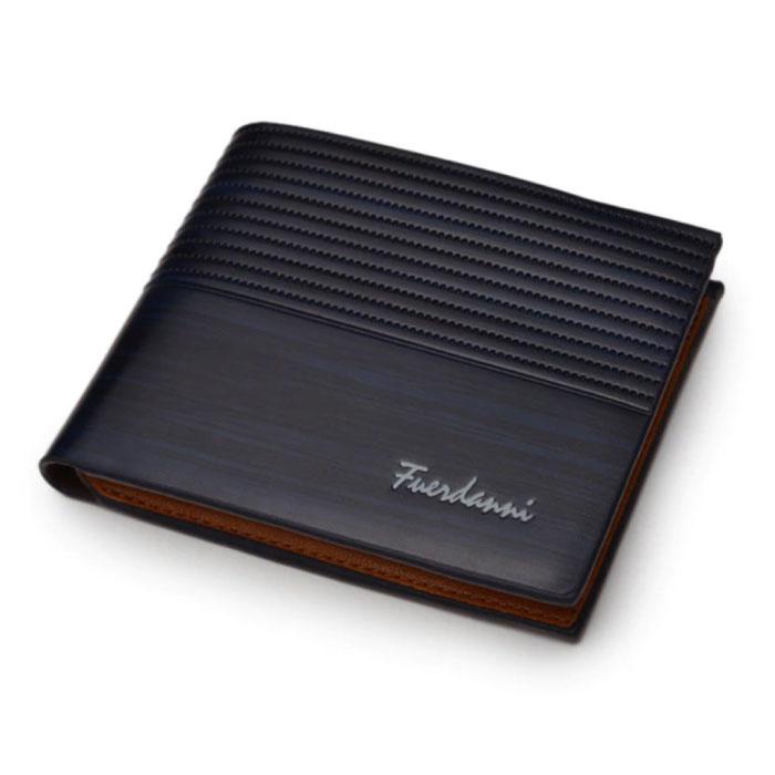 Billfold Wallet PU Leather - Slim Wallet Wallet Card Holder Credit Card - Black