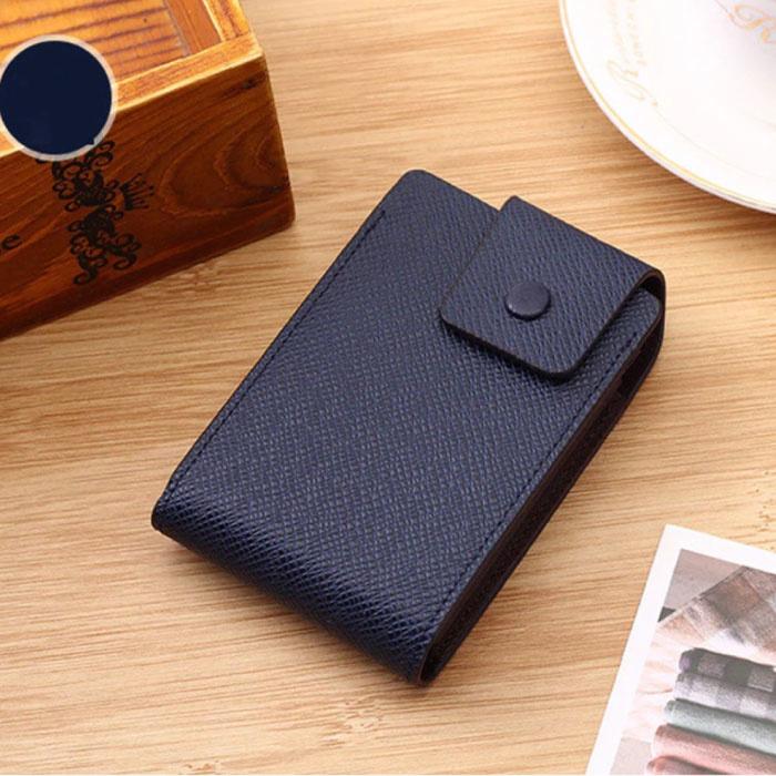 Porte-cartes en cuir PU - Portefeuille Portefeuille Portefeuille Carte de crédit - Bleu