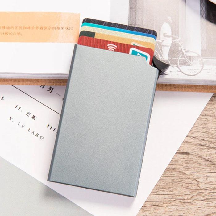 Aluminium Pasjeshouder - Anti-Diefstal Portemonnee Portefeuille Krediet Kaart Wallet - Grijs