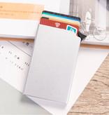 Stuff Certified® Aluminium Pasjeshouder - Anti-Diefstal Portemonnee Portefeuille Krediet Kaart Wallet - Zilver