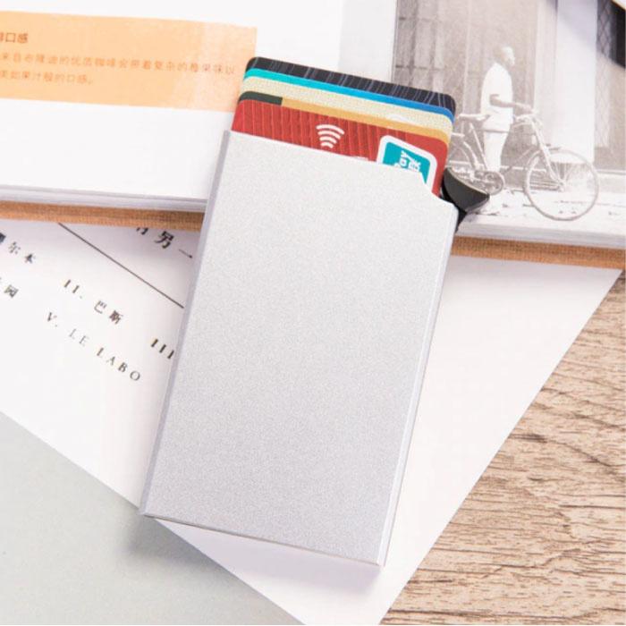 Aluminium Pasjeshouder - Anti-Diefstal Portemonnee Portefeuille Krediet Kaart Wallet - Zilver
