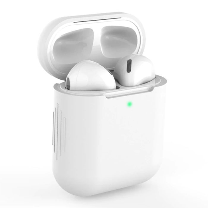 Flexible Case for AirPods 1/2 - Silicone Skin AirPod Case Cover Smooth - White