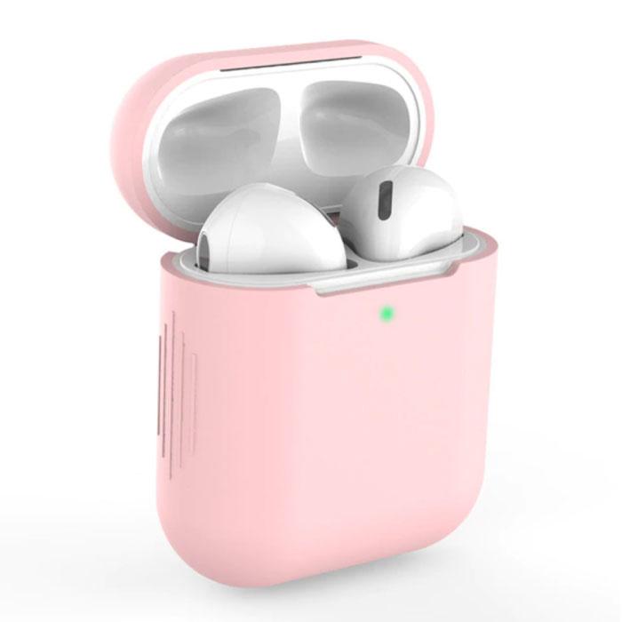 Flexibel Hoesje voor AirPods 1 / 2 - Silicone Skin AirPod Case Cover Soepel - Roze