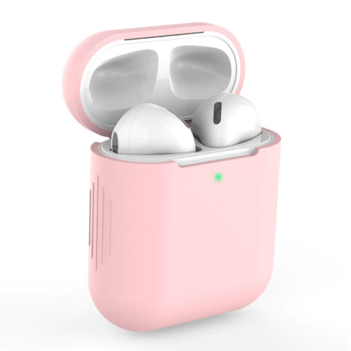 Flexible Case for AirPods 1/2 - Silicone Skin AirPod Case Cover Supple - Pink