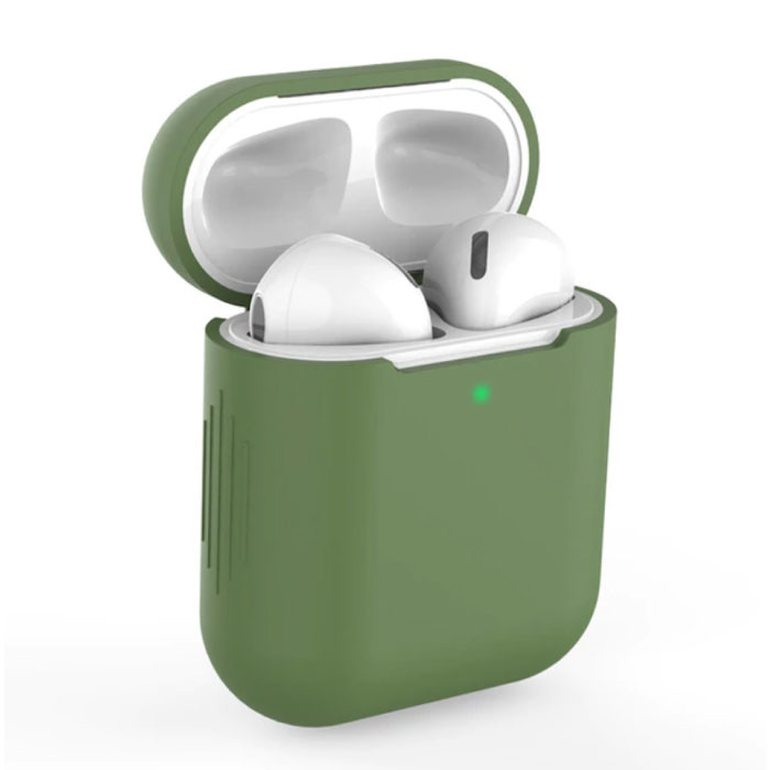 Flexible Case for AirPods 1/2 - Silicone Skin AirPod Case Cover Supple - Khaki