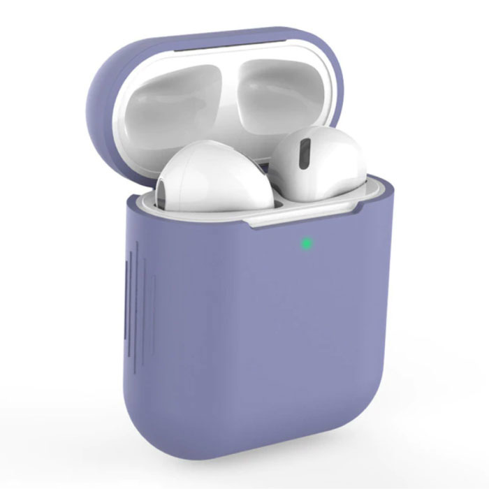 Etui Flexible pour AirPods 1/2 - Housse Etui AirPod Peau Silicone Souple - Indigo