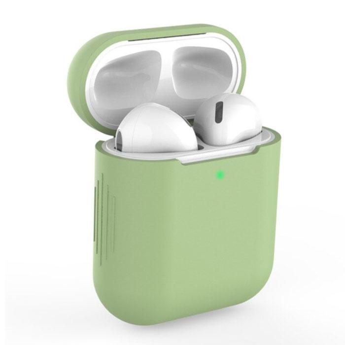 Étui flexible pour AirPods 1/2 - Housse de protection pour AirPod en peau de silicone lisse - Vert
