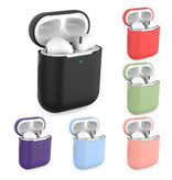 SIFREE Flexibel Hoesje voor AirPods 1 / 2 - Silicone Skin AirPod Case Cover Soepel - Donker Roze