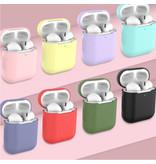 SIFREE Flexibel Hoesje voor AirPods 1 / 2 - Silicone Skin AirPod Case Cover Soepel - Blauw