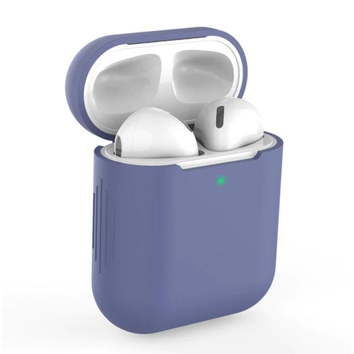 Etui Flexible pour AirPods 1/2 - Housse Etui AirPod en Peau de Silicone Flexible - Bleu