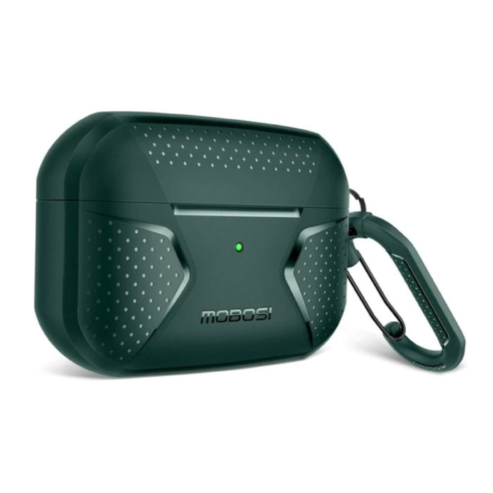 Shockproof Case for AirPods Pro with Carabiner - AirPod Case Cover Skin - Green