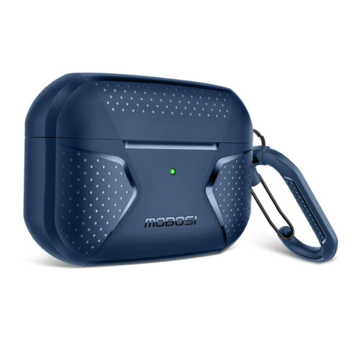 Shockproof Case for AirPods Pro with Carabiner - AirPod Case Cover Skin - Blue