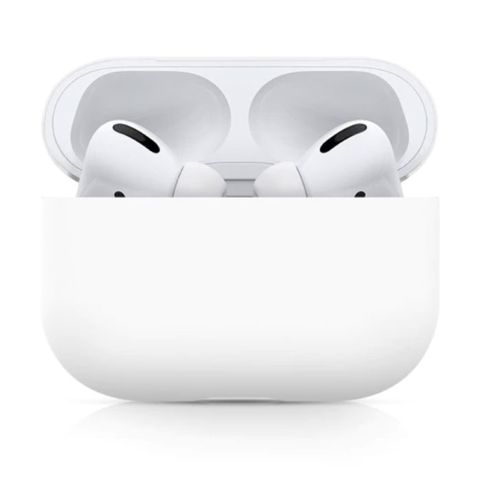Flexibel Hoesje voor AirPods Pro - Silicone Skin AirPod Case Cover Soepel - Wit