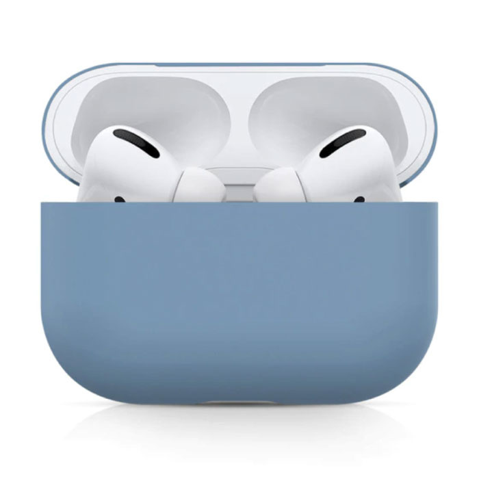 Flexibel Hoesje voor AirPods Pro - Silicone Skin AirPod Case Cover Soepel - Blauw